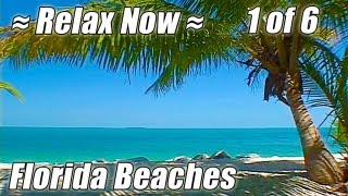 KEY WEST / FLORIDA BEACHES #1 Relaxing Ocean Sounds Sleep Beach video Wave sound sunset relax