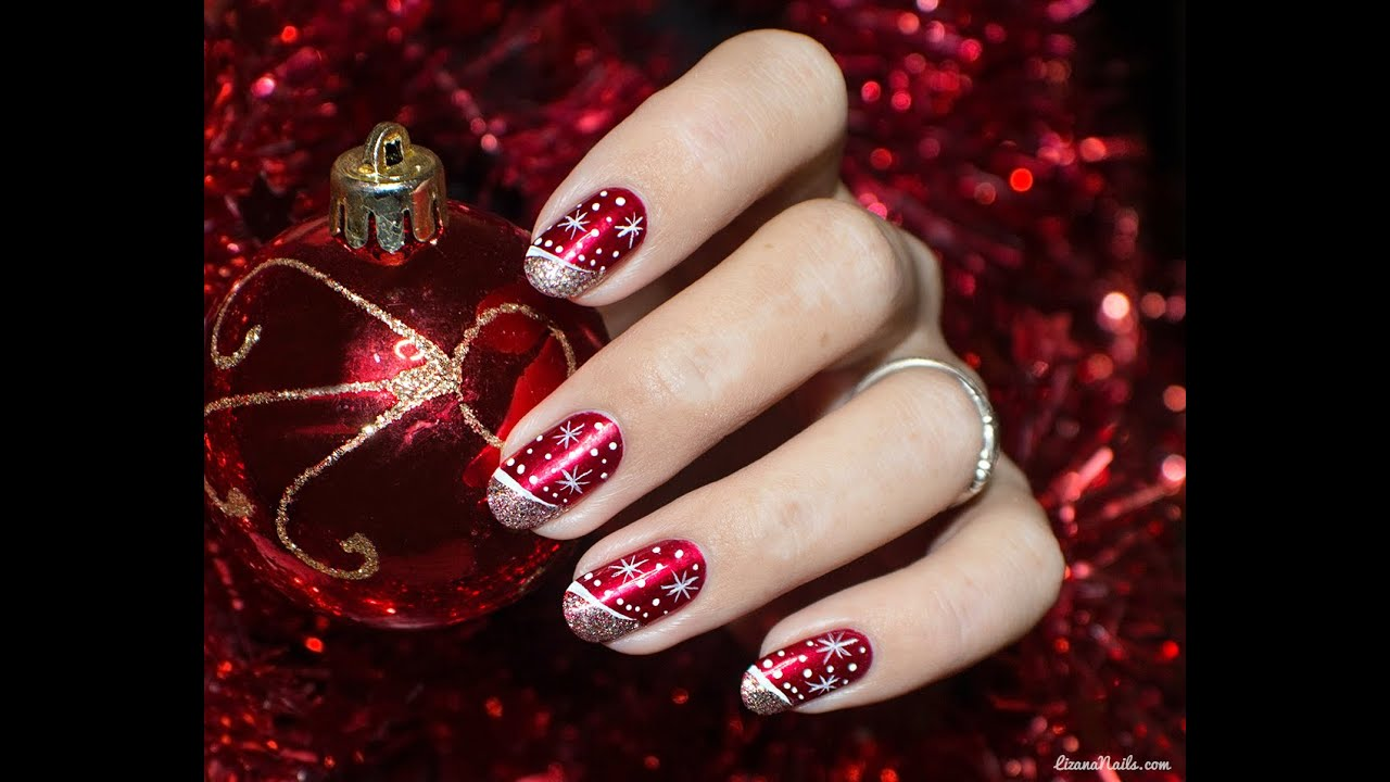 Nail Art Merry Christmas - YouTube