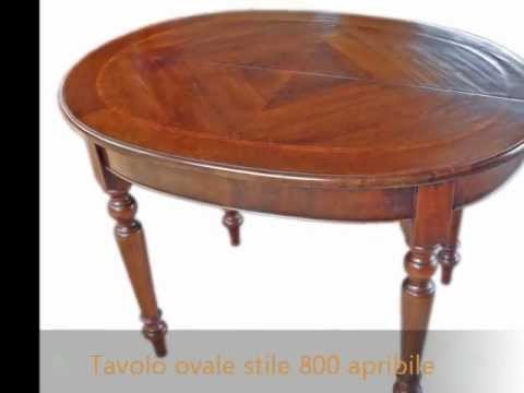 Elegante tavolo ovale classico in stile 800 lombardo for Tavolo classico
