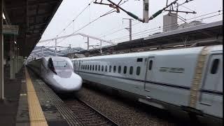 2019.8.19(月)8:23 山陽新幹線 相生駅【N700系みずほ603号の通過風景】