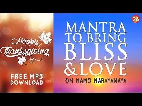 Day 28 - Mantra to Bring Bliss & Love - OM NAMO NARAYANAYA [108 Times]