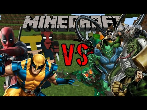 DEADPOOL and WOLVERINE vs  THE SINISTER SIX!! | MINECRAFT PE