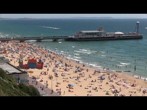 Bournemouth Beach Dorset.