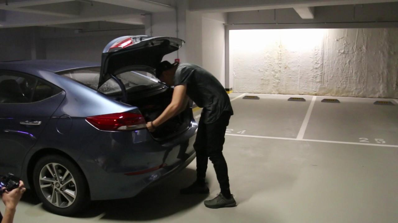 Hyundai Elantra: Emergency trunk safety release