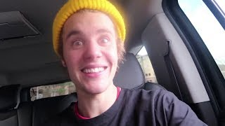 Justin Bieber vlogging with friends Christian Beadles  Josh Mehl in Park City Utah in January 2018
