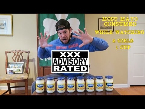 Most Jars of Mayo Consumed in 10 Min (While Watching 2 Girls 1 Cup) L.A. BEAST
