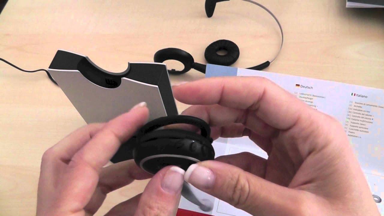 JABRA Schnurloses Headset GN 9120 DG für schnurlos DECT Telefone ...