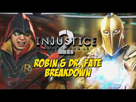 ROBIN - DR. FATE Gameplay Breakdown & More  w/Maximilian (Injustice 2)