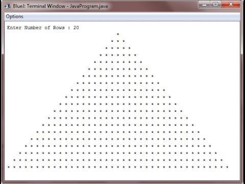 Python Basics - Pyramid of Stars
