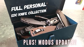 Full Personal EDC Knife Collection + Steel Will Modus (Check Pinned Comment - late info!)
