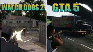GTA 5 VS WATCH DOGS 2 Comparison!!!