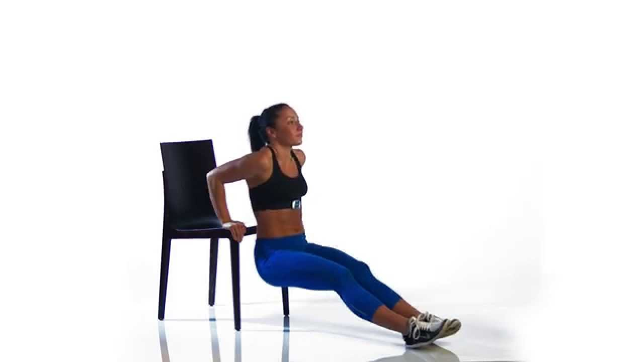 Tricep Dips with a Chair - YouTube