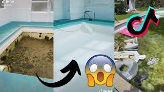 Satisfying Pool Cleaning Videos | TikTok