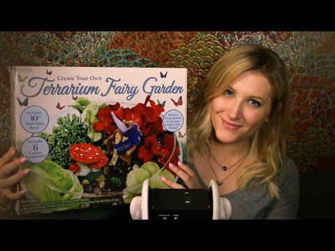 Thrifty Tingles: Fairy Garden Terrarium (Binaural ASMR, Soft Speaking, Tapping, Crinkling)