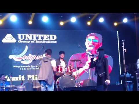 Amit Mishra live concert in united college