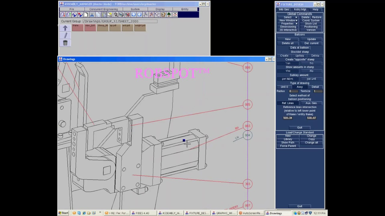 hight resolution of how to creat biw welding fixture design unit g a drawing in fides software part 02