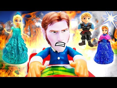 Don't Wake Daddy Hans Easter Egg Game Reveal With Frozen Elsa, Anna, Olaf, Kristoff And Sven!