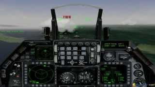 Falcon 4.0 gameplay (PC Game, 1998)