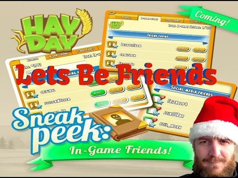 Hay Day - Sneak Peak In-Game Friends and The New Friends Book