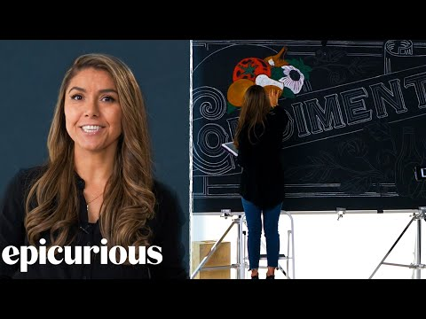 Price Points Chalkboard Artist Explains Her Process | Epicurious