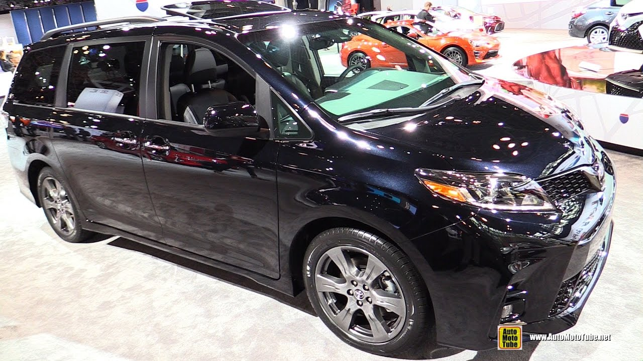2018 Toyota Sienna Exterior And Interior Walkaround Debut At 2017 New York Auto Show