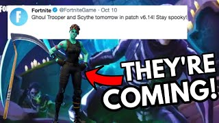 *CONFIRMED* SCYTHE AND GHOUL TROOPER ARE BACK ! - OG Halloween Skins - Fortnite Battle Royale!