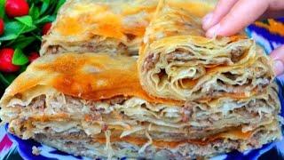 Свекровь научила теперь кто пробуют просят рецепт Съедаются в один миг Узбекская мясная лепешка