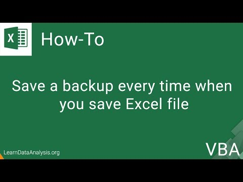 Save a Backup Every Time When You Save Excel File