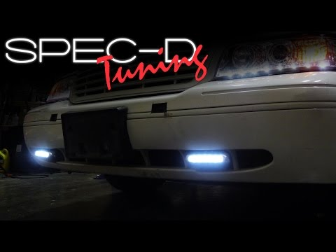 SPECDTUNING INSTALLATION VIDEO: UNIVERSAL LED DAYTIME RUNNING LIGHTS