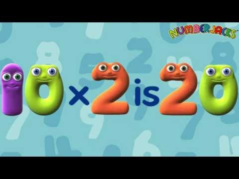 2 Times Tables Song  Numberjacks