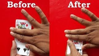 Easy Card And Fingers Magic Trick