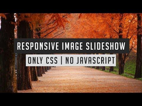 Amazing responsive image slider using only html and css | Image slideshow html css