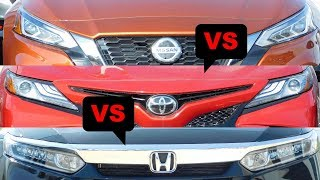 2019 Toyota Camry vs 2019 Honda Accord vs 2019 Nissan Altima