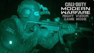 CALL OF DUTY MODERN WARFARE NIGHT VISION GAME MODE (PS4 PRO)