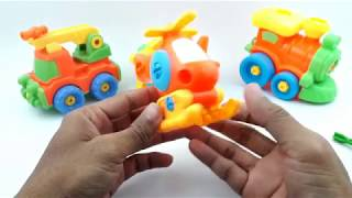 Learn Colors With Helicopter For Kids Helicopter Assembly Video for Kids Education Videos For Kid