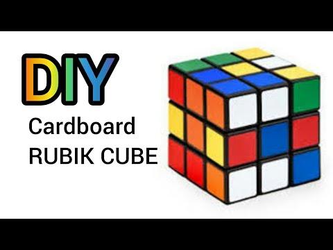 "DIY ""CARDBOARD RUBIK CUBE"" VERY EASY"
