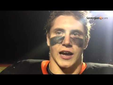VIDEO Josh Thomas talks about undefeated Schuylerville's playoff win Friday night