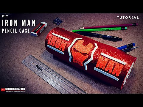 Easy DIY Pencil Case - Iron Man [Avengers] -  School Supplies