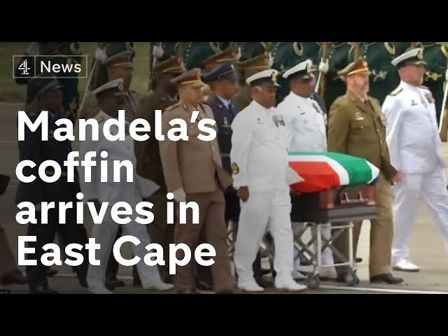 Nelson Mandela's coffin arrives in the East Cape