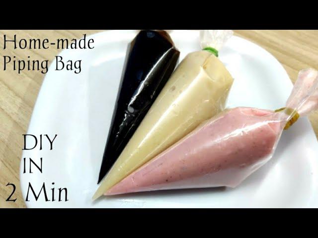 Make Piping Bag in Just 2 Mins|Home-made Piping Bag|DIY