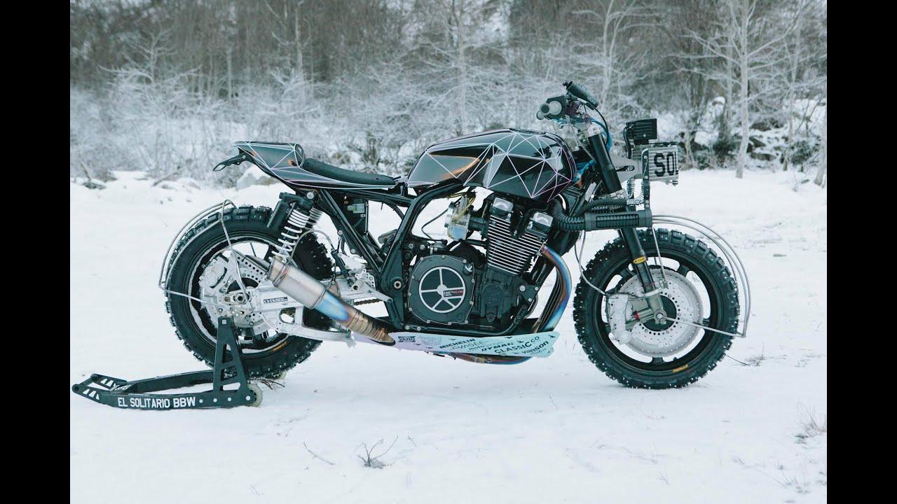 7d65626c9b0a7 El Solitario's Big Bad Wolf Custom Yamaha In The Snow - YouTube