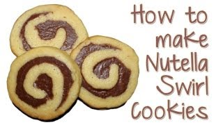 Nutella Swirl Cookies Made With Refrigerator Cookie Dough