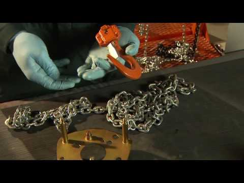 Vitali-Intl Chain Hoist Usage, Assembly And Disassembly
