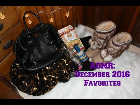 ASMR: December favorites - whispering, leather & fabric sounds, tapping & water sounds