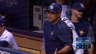 KC@TB: Cash thrown out for arguing Andriese