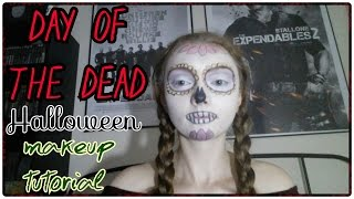 Day of the Dead Halloween Makeup Tutorial Thumbnail