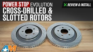 2015 2017 mustang power stop evolution cross drilled slotted rotors gt ecoboost v6 review