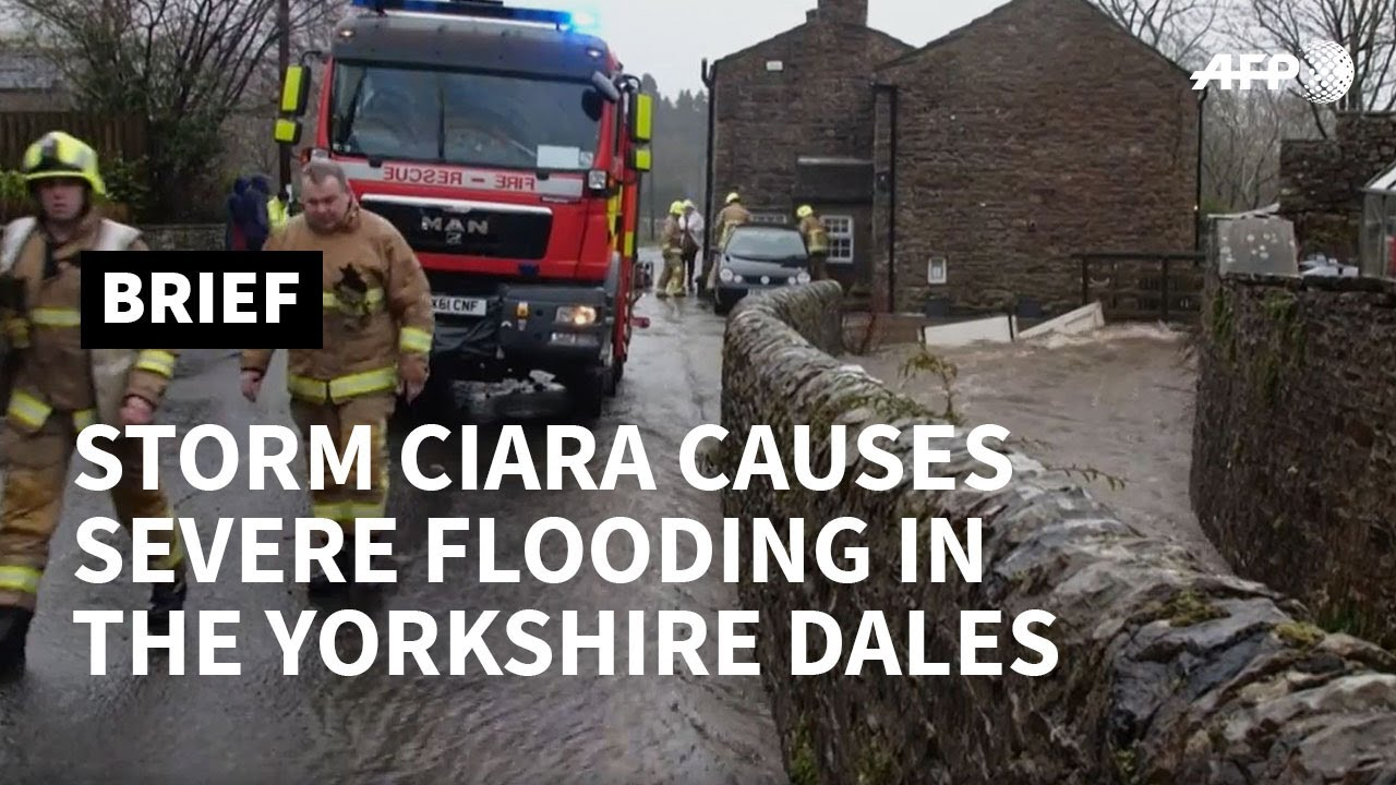 Floods and travel disruption as Storm Ciara hits