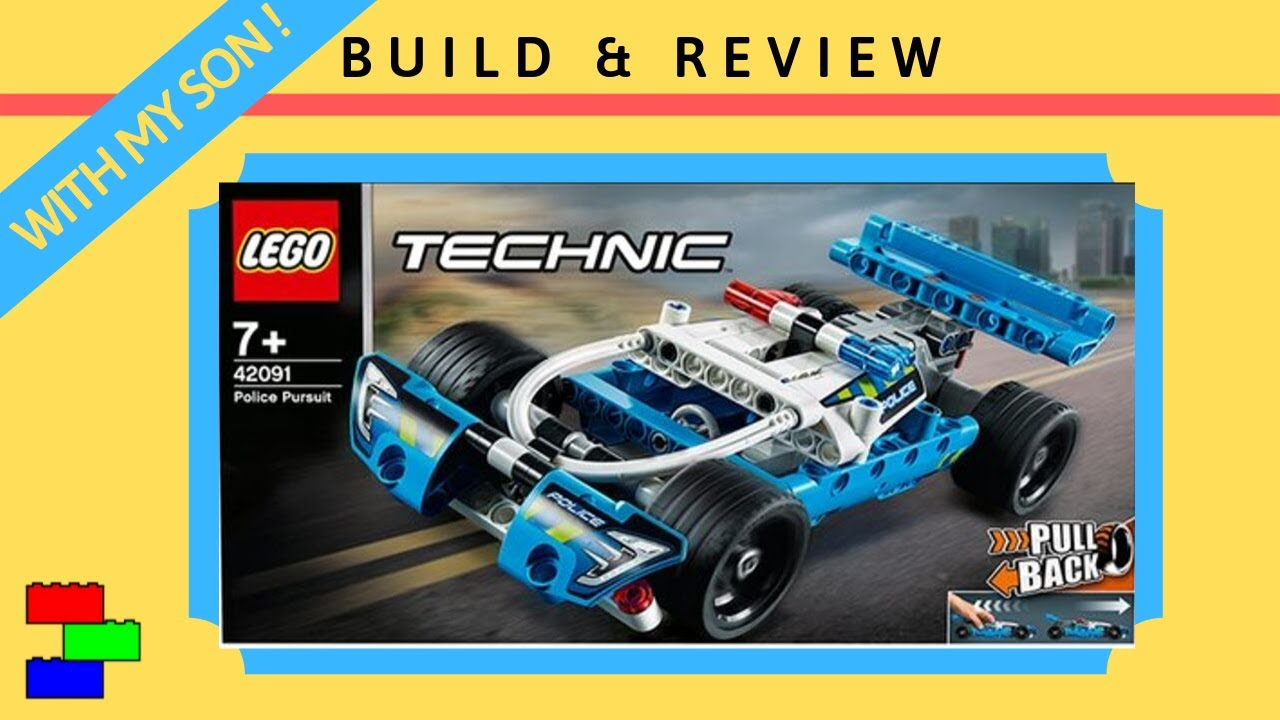 LEGO TECHNIC | 42091 Police Pursuit | Build with my son & Review