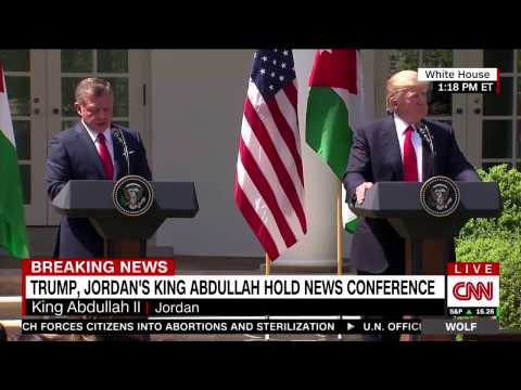 BREAKING NEWS : PRESIDENT TRUMP AND JORDAN'S KING ABDULLAH NEW CONFERENCE
